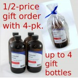 GIFT SPECIAL - Buy a GLASS 4-pack; Send a gift order of 1 GLASS bottle 1/2-price.