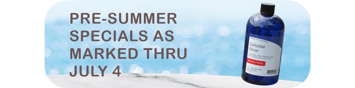 Pre-Summer Specials